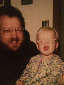 Me and my father, circa 1993 when I got my first pair of glasses.